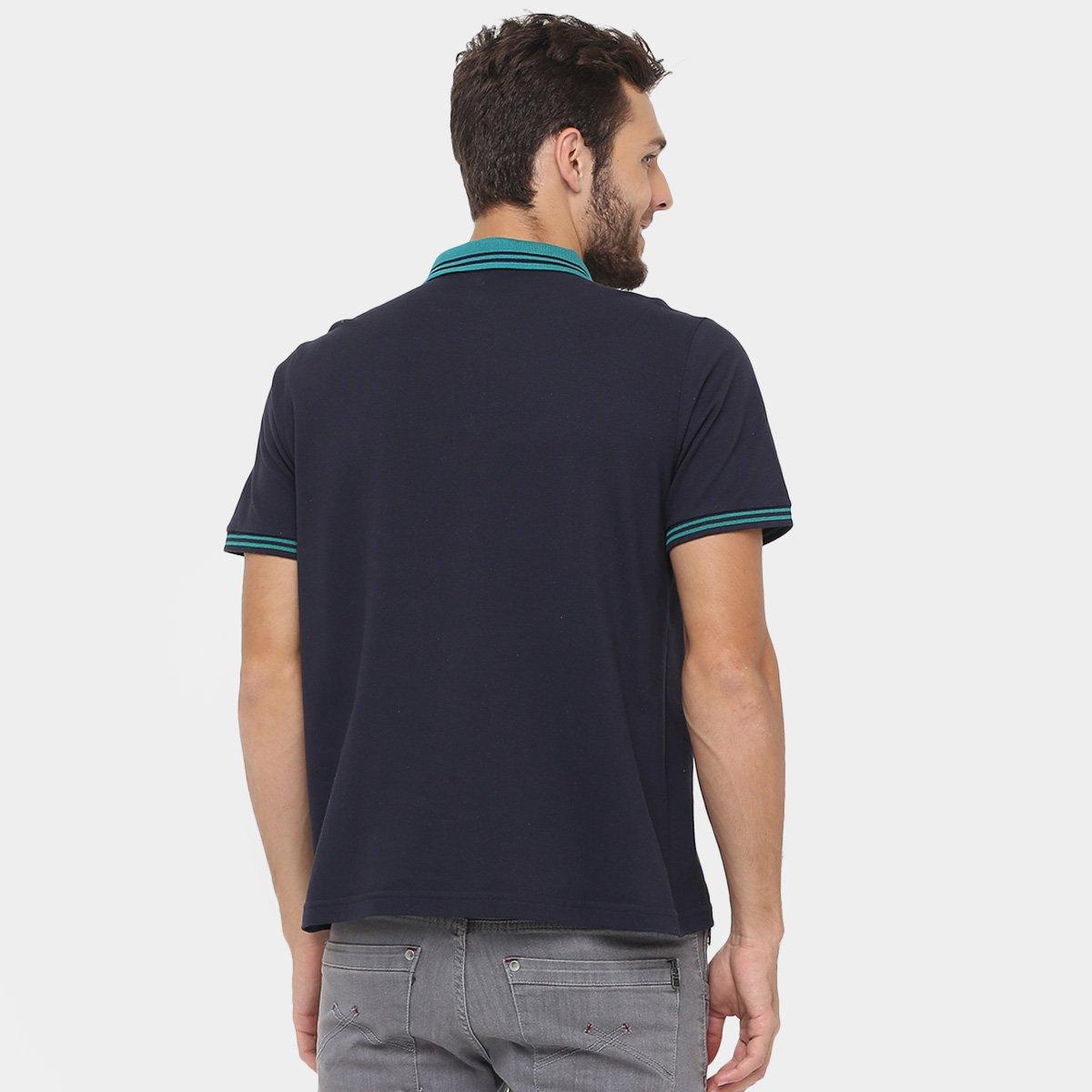 Camisa Polo M. Officer Piquet Frisos Contraste - Compre Agora  c64e433caa74e
