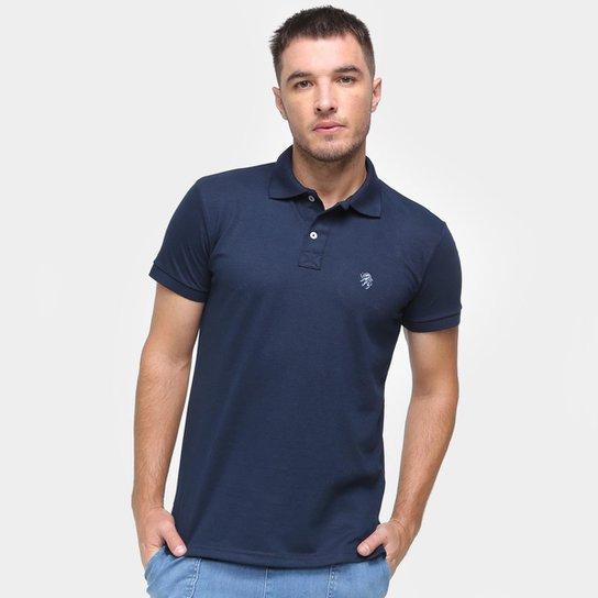 Camisa Polo Marc Ecko Masculina Algodão Confortável - Marinho