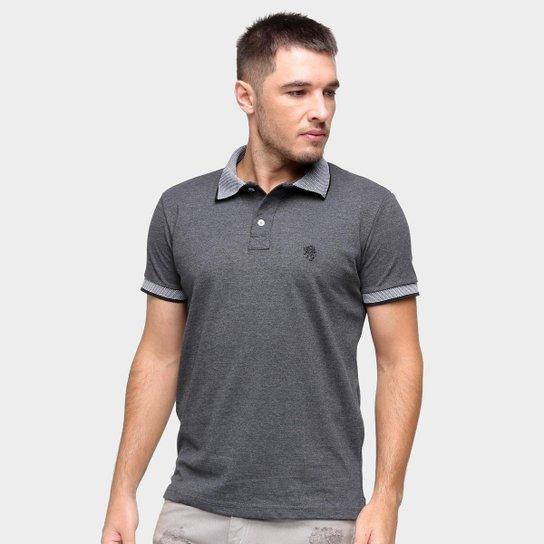 Camisa Polo Marc Ecko Masculina Manga Curta Confortável - Mescla
