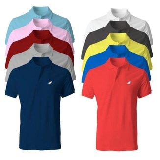 Camisa Polo Masculina em Tecido Piquet Vira Lata Wear Kit 10 Unidades