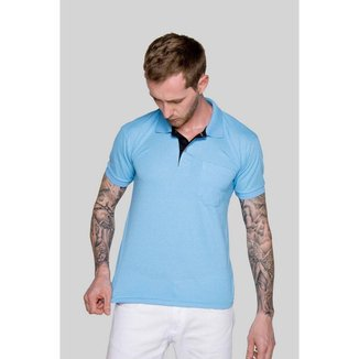 Camisa Polo Masculina Versatti Azul Brasilia A20 M