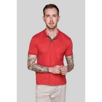 Camisa Polo Masculina Versatti Vermelha Goias A20 P