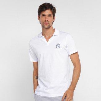 Camisa Polo MLB New York Yankees New Era Fashion Icon Stripes Masculina