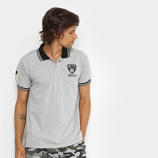 Camisa Polo NBA Brooklyn Nets 17 Masculina