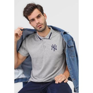 Camisa Polo New Era Reta New York Yankees