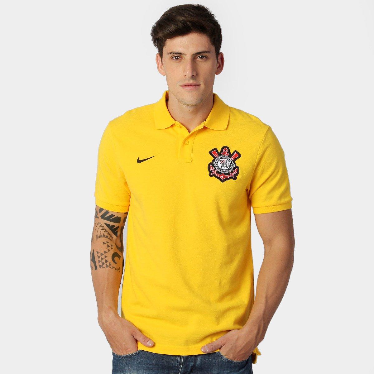 Camisa Polo Nike Corinthians Authentic GS - Compre Agora  427e1d569cedc