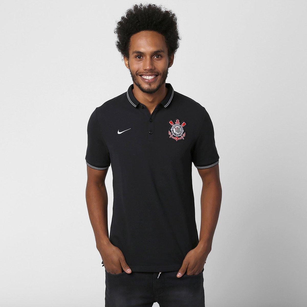 Camisa Polo Nike Corinthians League Authentic - Compre Agora  c176672736a4f