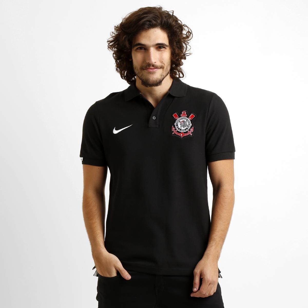Camisa Polo Nike Corinthians Matchup Core - Compre Agora  a3d17d6ead59f