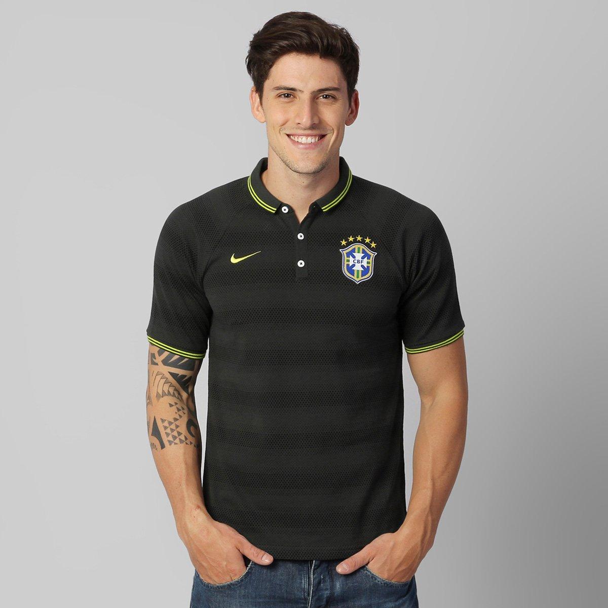 78dbc22d8c934 Camisa Polo Nike Seleção Brasil Auth 2014 - Compre Agora