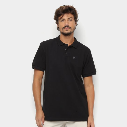 Camisa Polo Oakley Básica Patch 2.0 Masculina - Preto