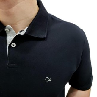 Camisa Polo Ogochi Básica Plus Size Preto 007000013