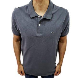 Camisa Polo Ogochi Básica Slim Cinza 0074470010154