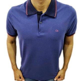 Camisa Polo Ogochi Piquet Slim Azul 007434007