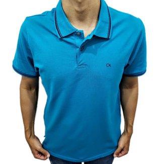 Camisa Polo Ogochi  Slim Azul Friso 0074470017008