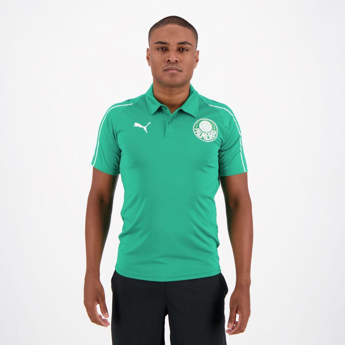 c32d0053be12a Camisa Polo Palmeiras 19 20 Puma Masculina - Verde - Compre Agora ...