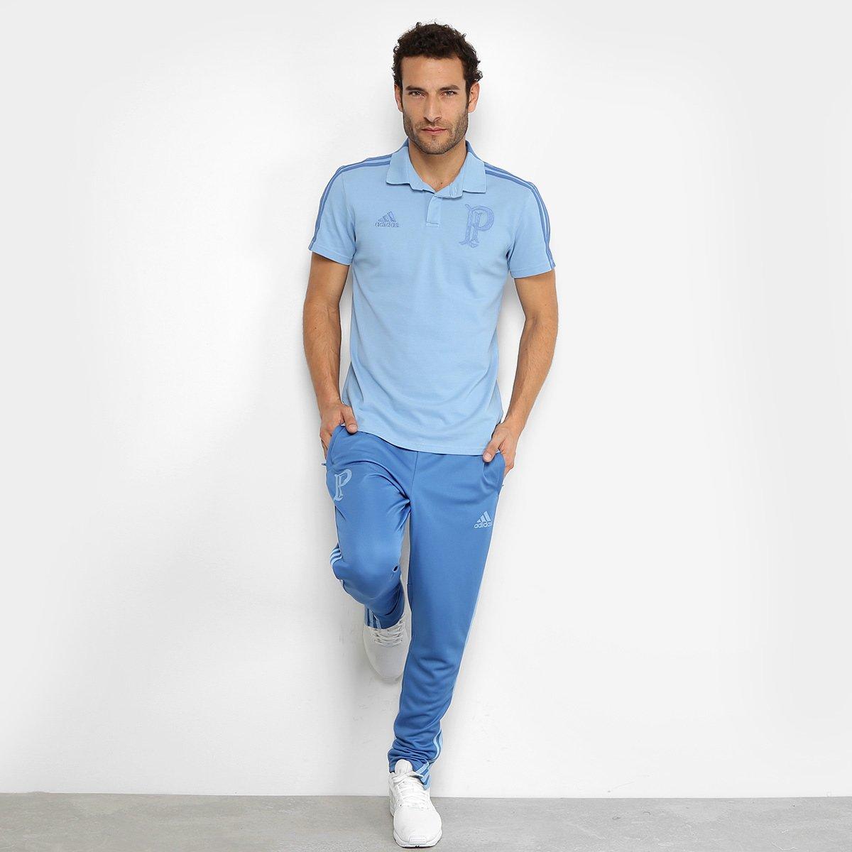 6b00192086 Camisa Polo Palmeiras Adidas Cotton Masculina - Azul - Compre Agora ...