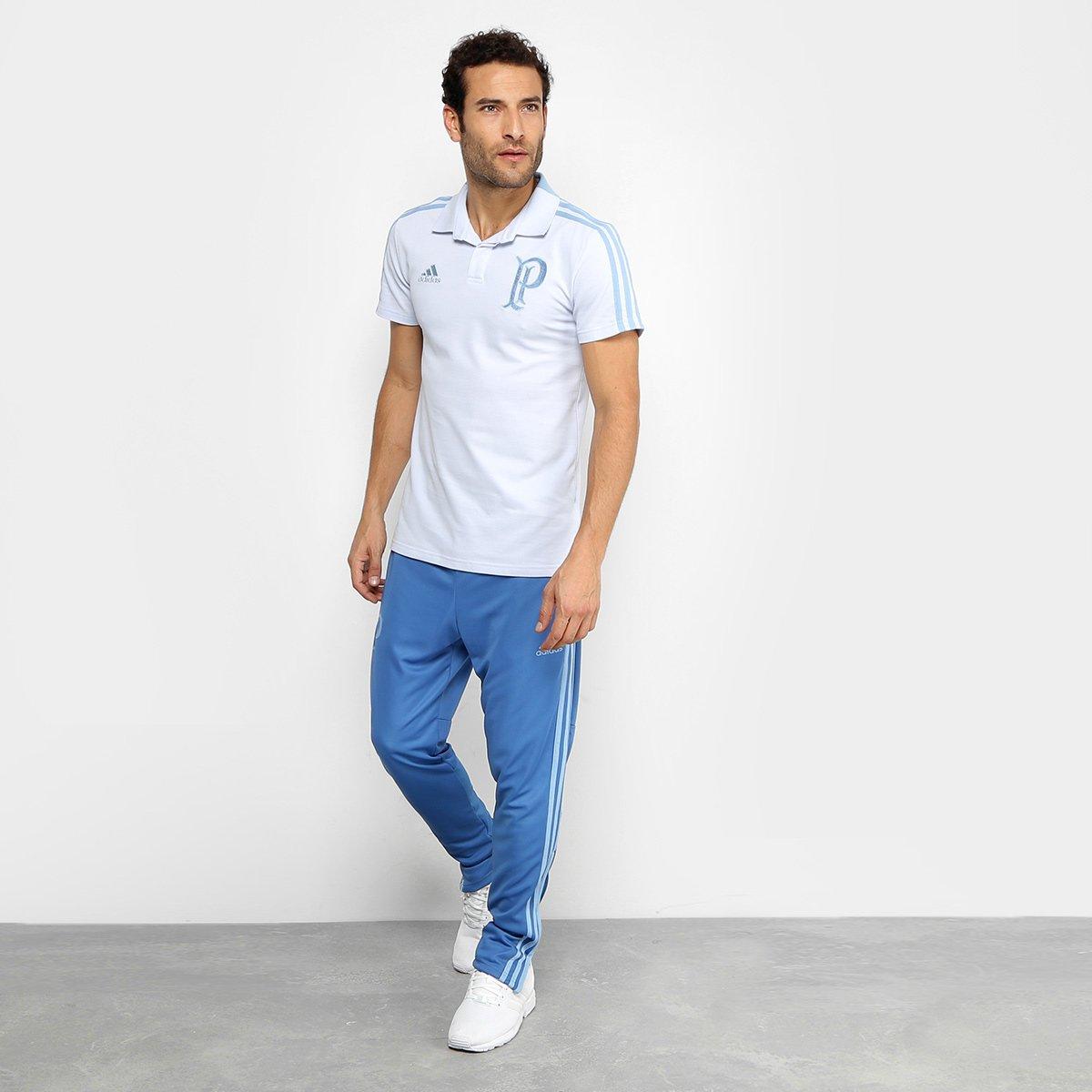 f81ecd081f Camisa Polo Palmeiras Adidas Cotton Masculina - Azul e Marinho ...