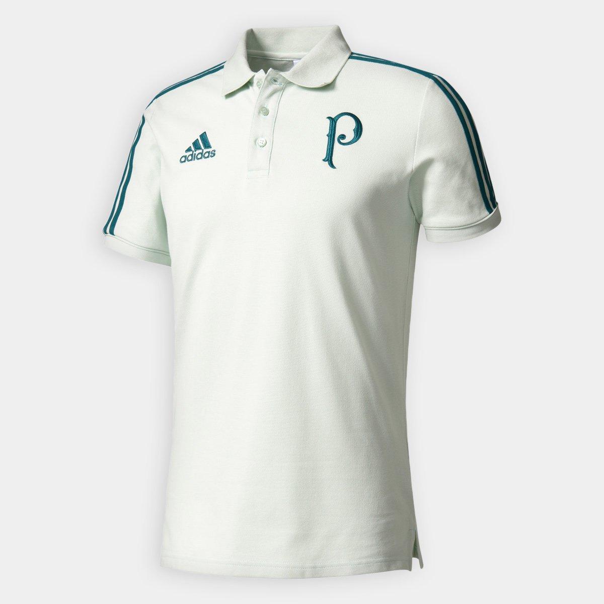 Camisa Polo Palmeiras Adidas Viagem 17 18 Masculino - Verde claro - Compre  Agora  f907b55b4bf65
