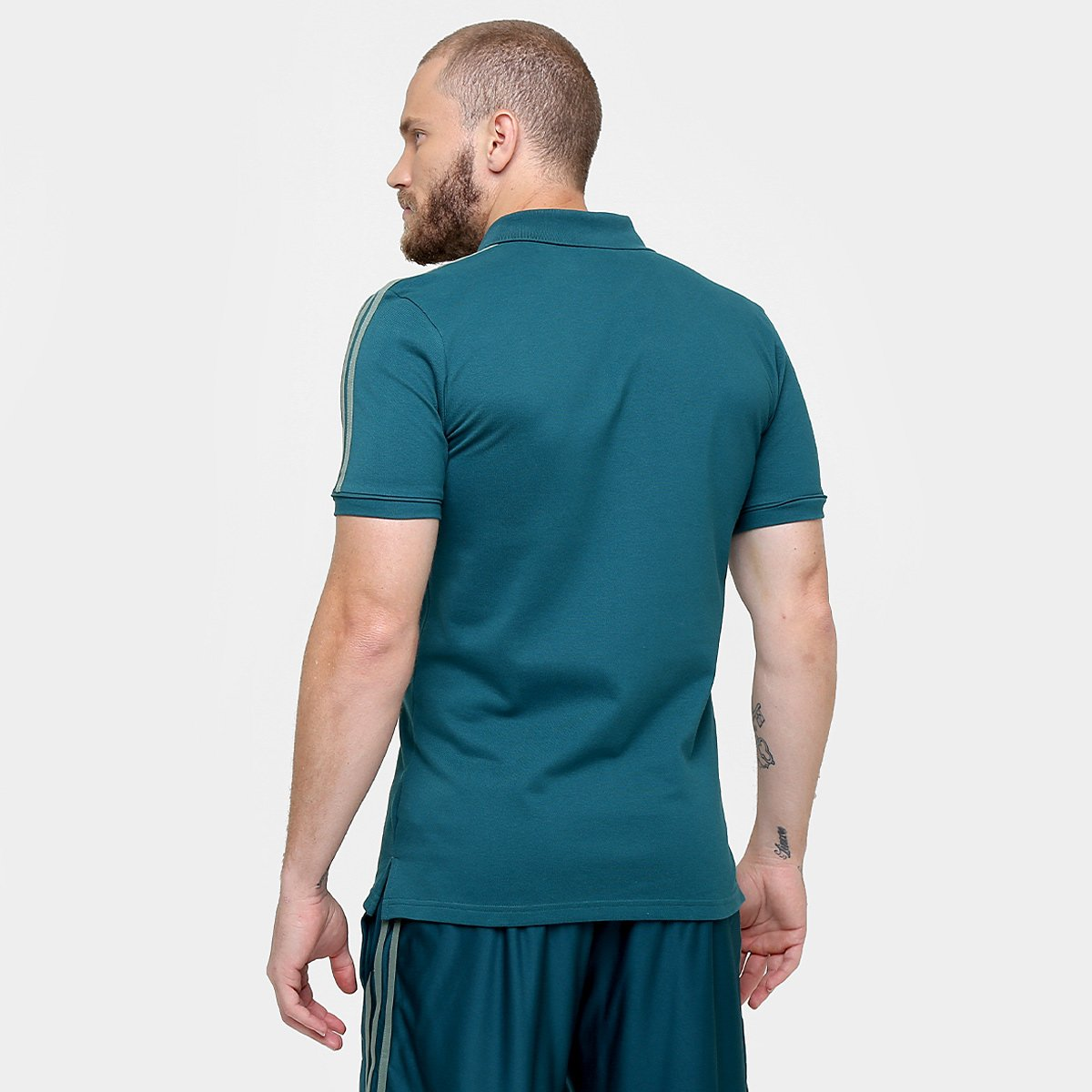 e9ba02cdee Camisa Polo Palmeiras Adidas Viagem 17 18 Masculino - Verde - Compre ...