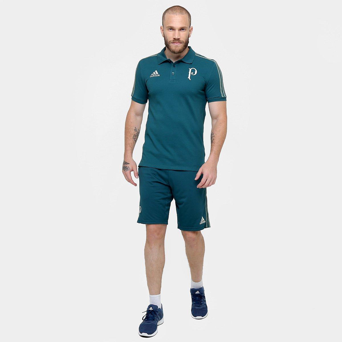 Camisa Polo Palmeiras Adidas Viagem 17 18 Masculino - Verde - Compre ... ba52e731ad154