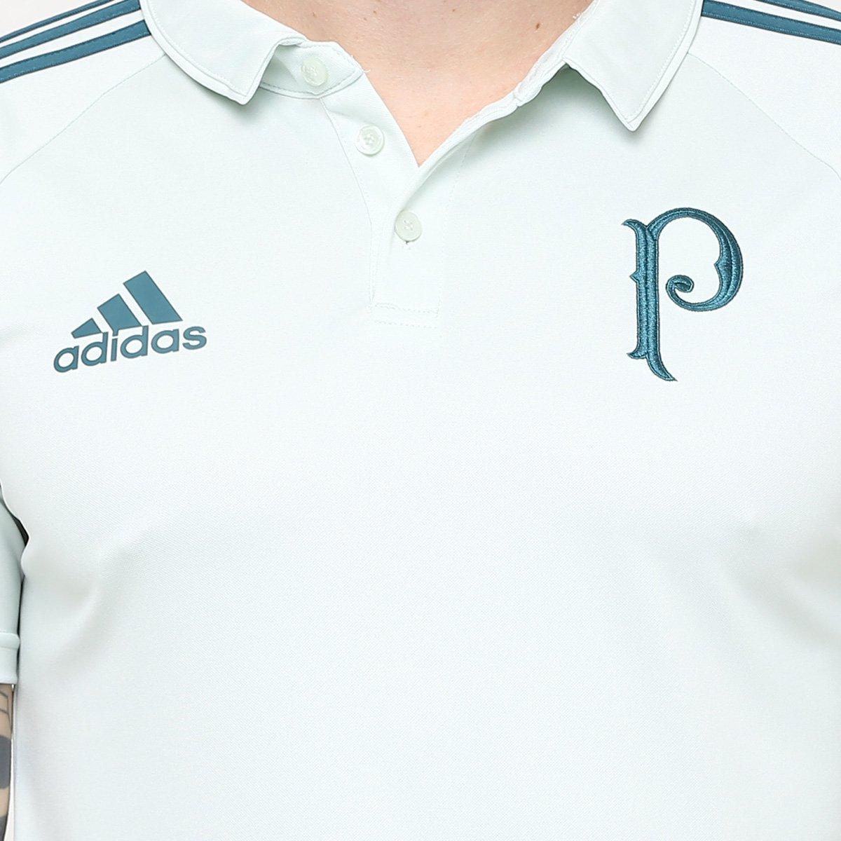 Camisa Polo Palmeiras Adidas Viagem 17 18 Masculino - Verde Claro e ... 10c7f33f40e38