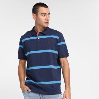 Camisa Polo Pierre Cardin Listrada Masculina