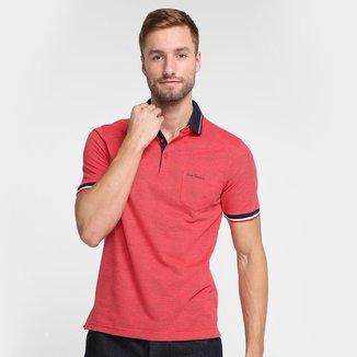 Camisa Polo Pierre Cardin Masculina Bolso Frontal Conforto