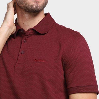 Camisa Polo Pierre Cardin Masculina Botões Lisa Conforto