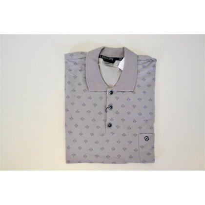 Camisa Polo Plus Size com Micro Estampa