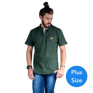 Camisa Polo Plus Size Hipica Polo Club Elastano Estilo Classic