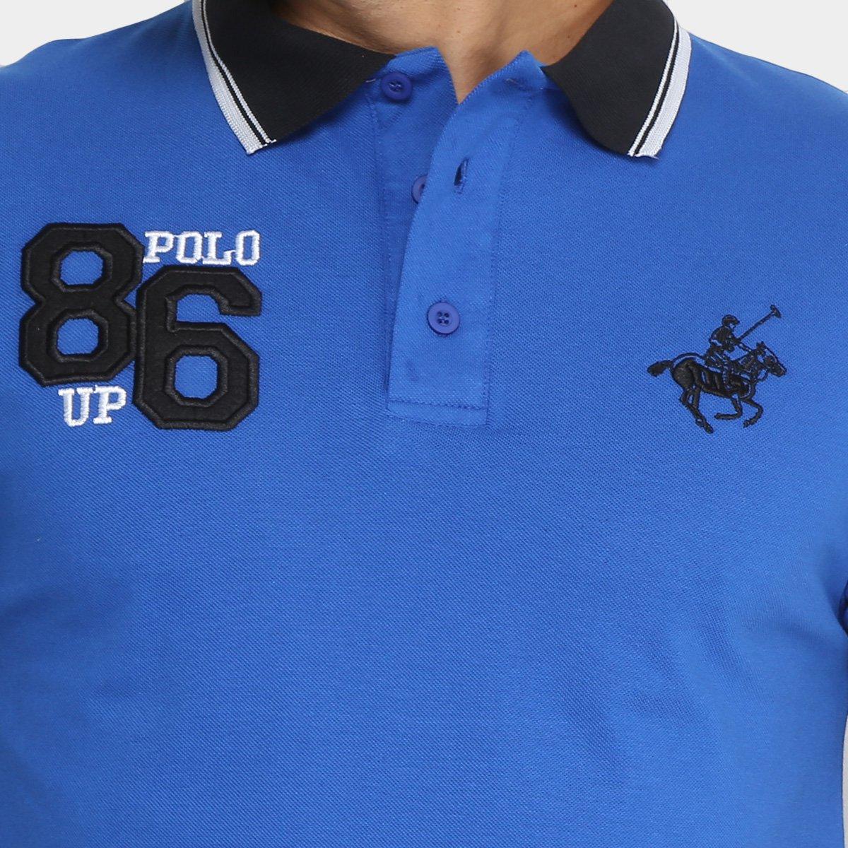 4d415a3ffb Camisa Polo Polo Up com Bordado Masculina - Azul Royal - Compre ...