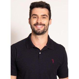 Camisa Polo Preta Lisa Aleatory-Preto-XGGG