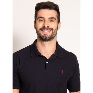 Camisa Polo Preta Lisa Aleatory-Preto-XGGGG