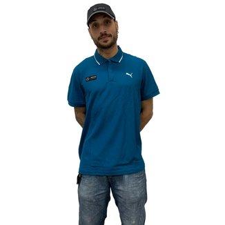 Camisa Polo Puma MAPM Masculina - Azul
