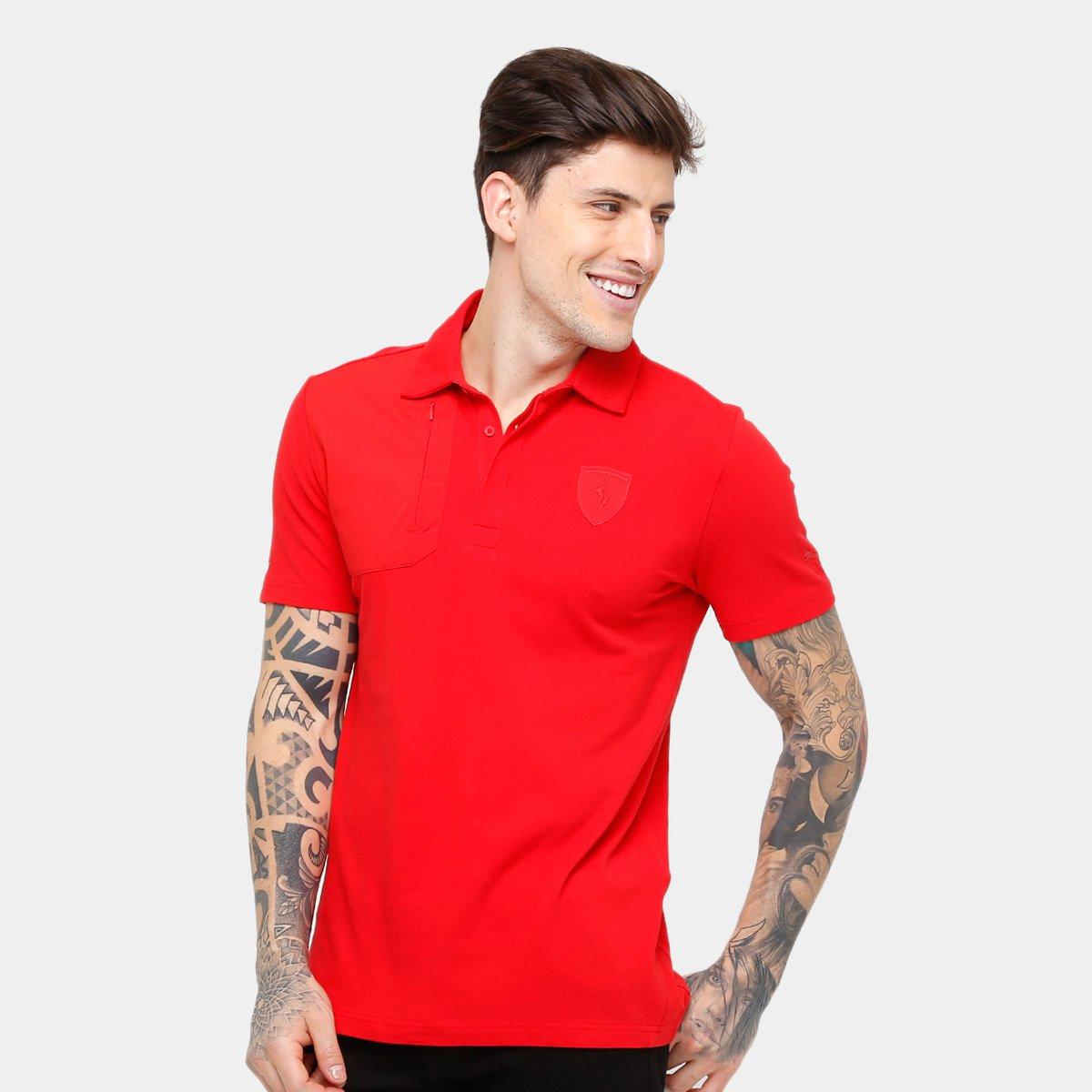 Compre Camisa Puma Ferrari Vermelha Online  d1be796def6f0