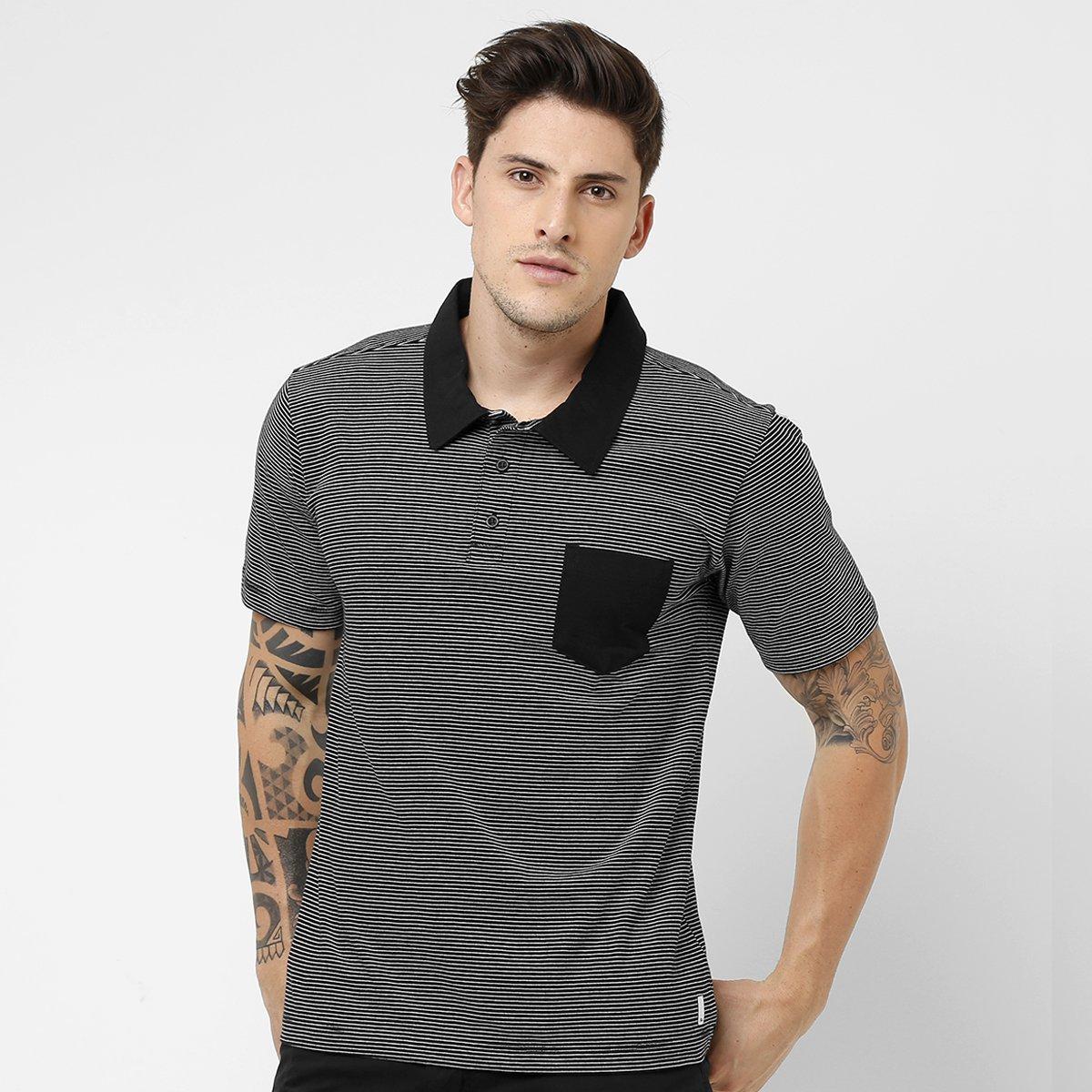 49ac179eea7ef Camisa Polo Quiksilver Stone Crazy - Compre Agora   Netshoes