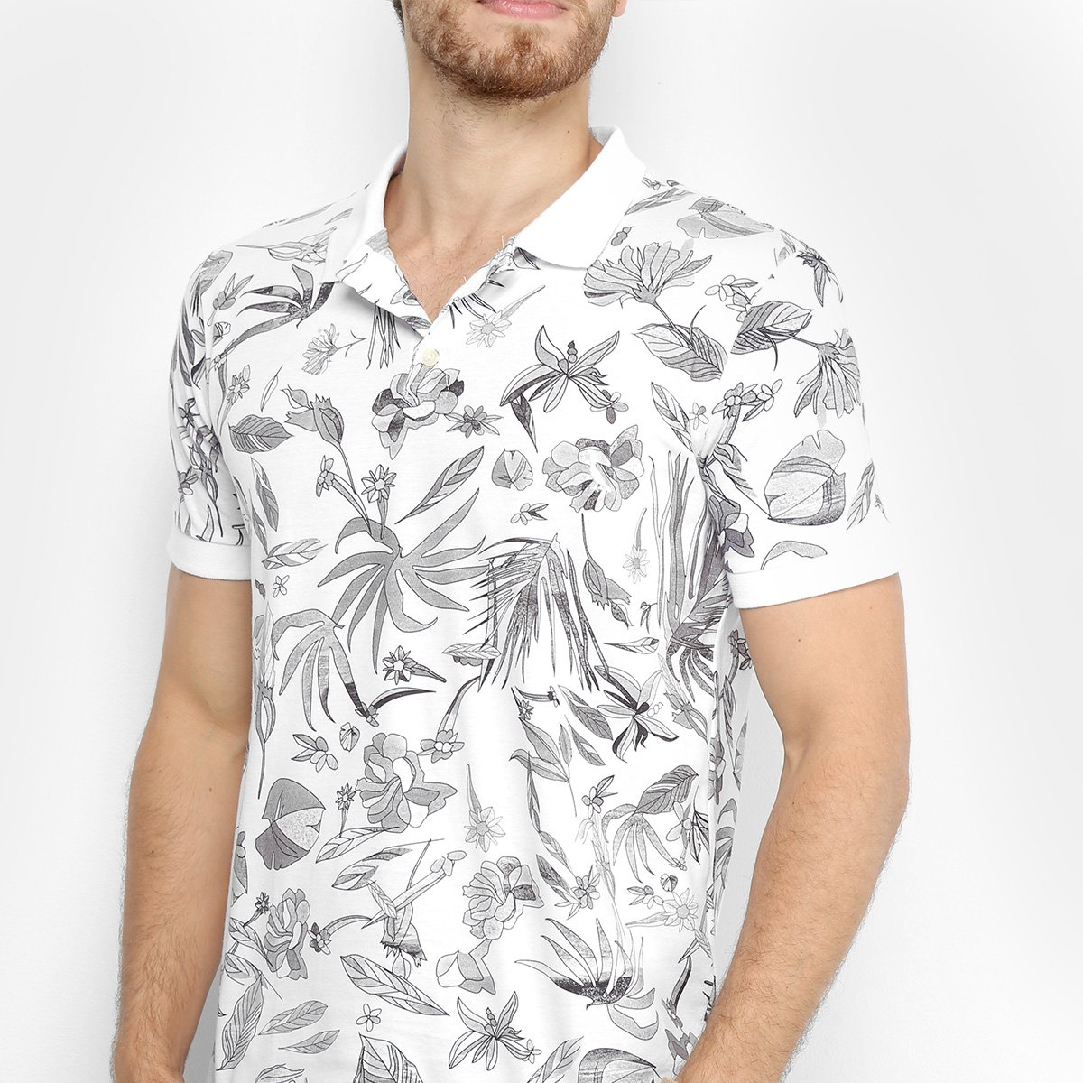 794a5922a7 Camisa Polo Reserva Full Print Floral Carnaval Masculina - Compre ...