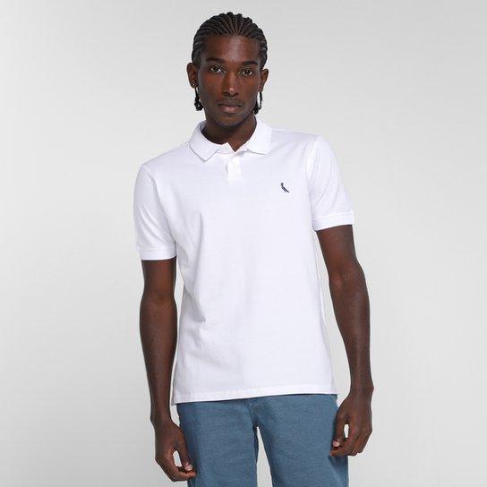 Camisa Polo Reserva Pima Piquet Masculina - Branco