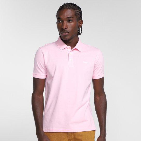 Camisa Polo Reserva Piquet Masculina - Rosa