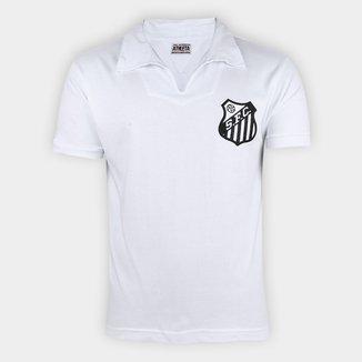 Camisa Polo Retrô Santos 62/63 nº 10 Athleta Masculina