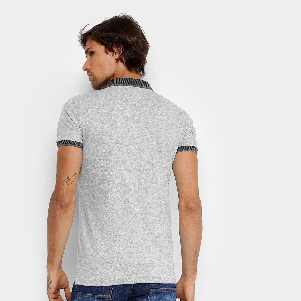... Camisa Polo RG 518 Lisa Gola Quadriculada Logo Metalizada Masculina ... 5e0261c3414cb
