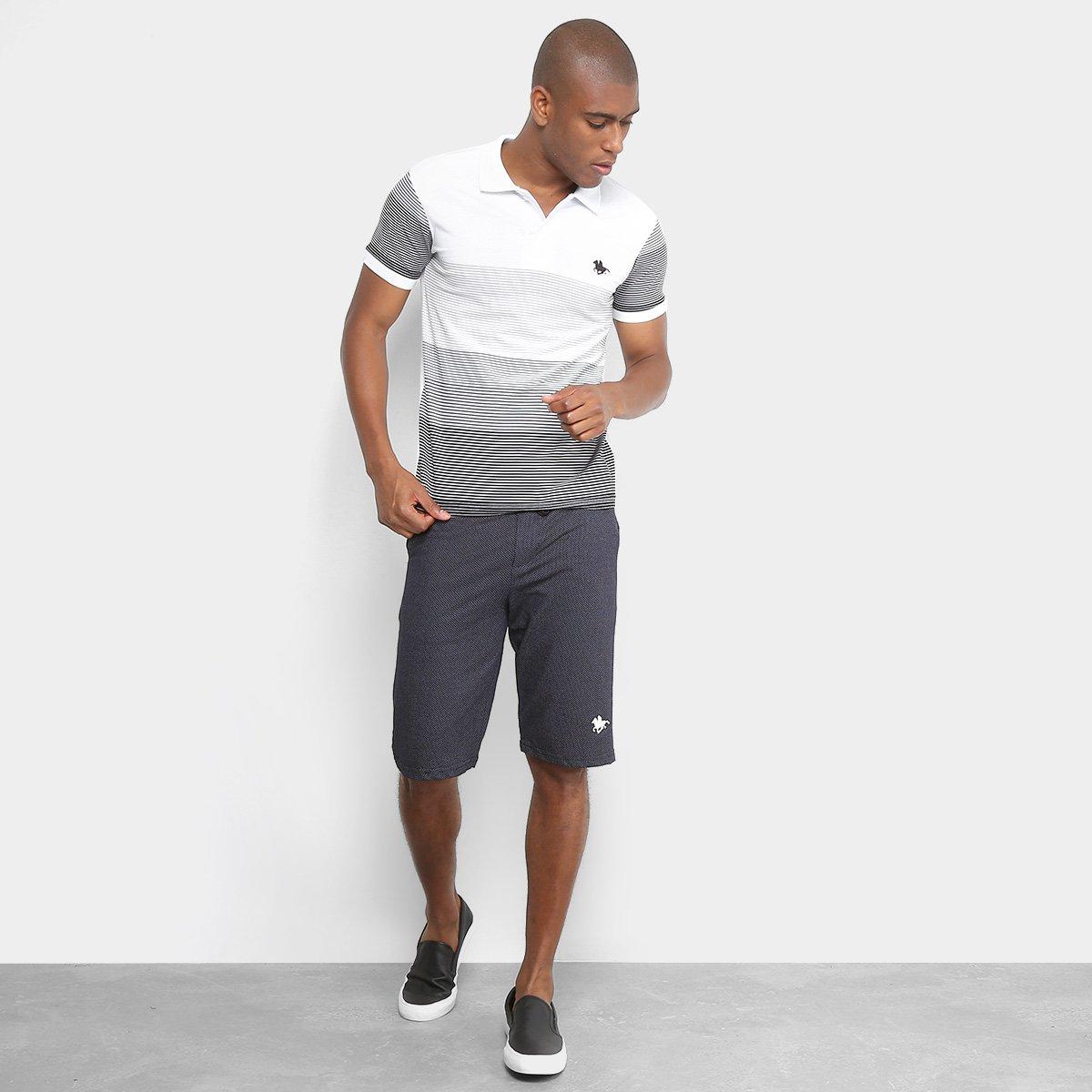 Camisa Polo RG 518 Listrada Degrade Masculina - Branco - Compre ... f71156267d36c