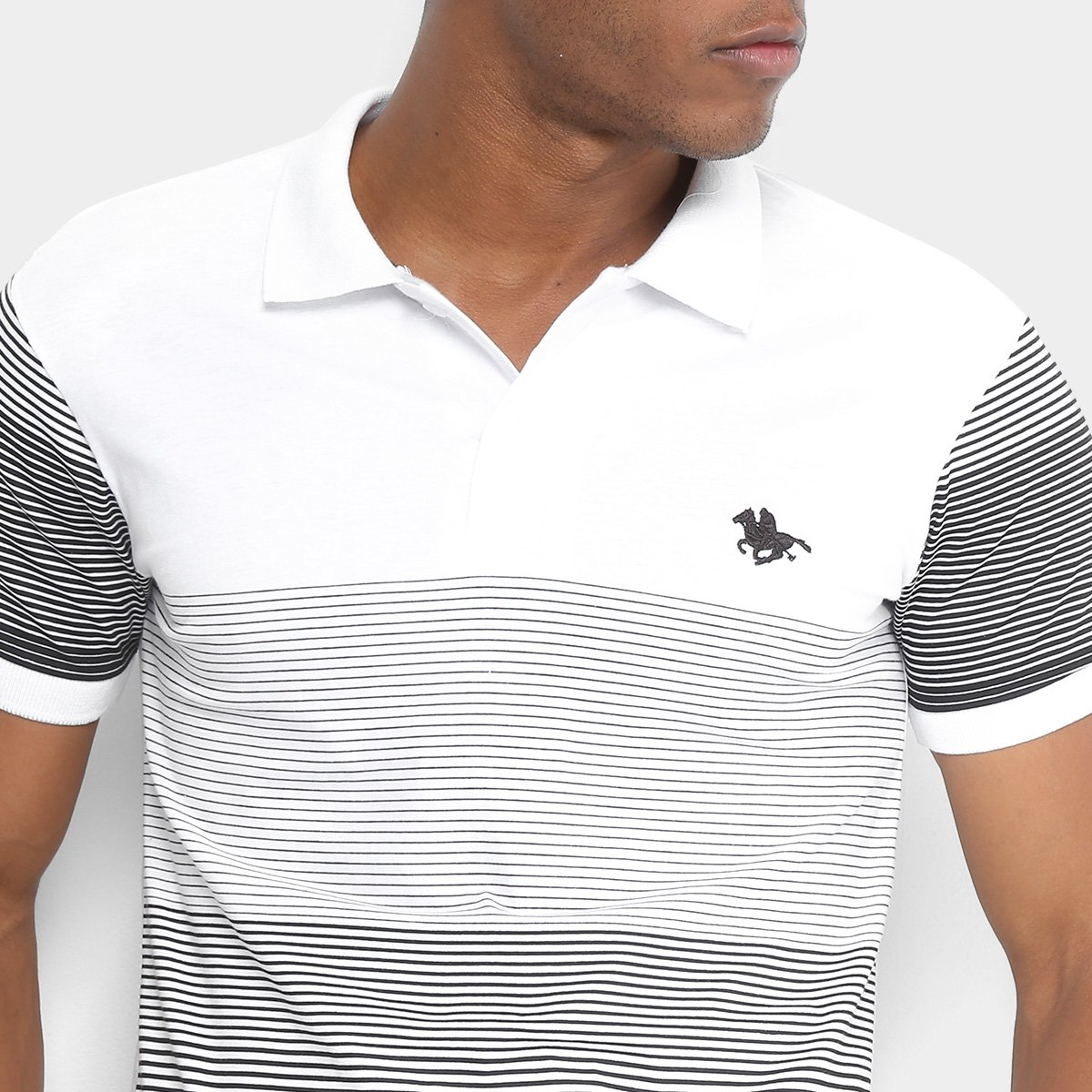 52f54e0b4f Camisa Polo RG 518 Listrada Degrade Masculina - Branco - Compre ...