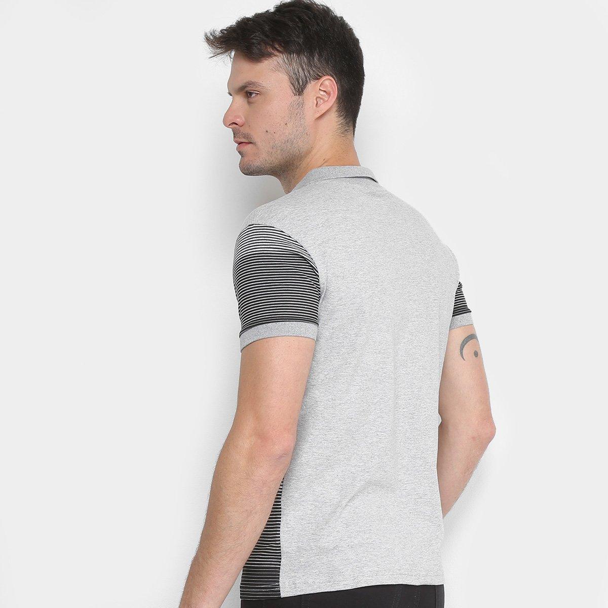Camisa Polo RG 518 Listrada Degrade Masculina - Mescla - Compre ... 9eef6cd401849