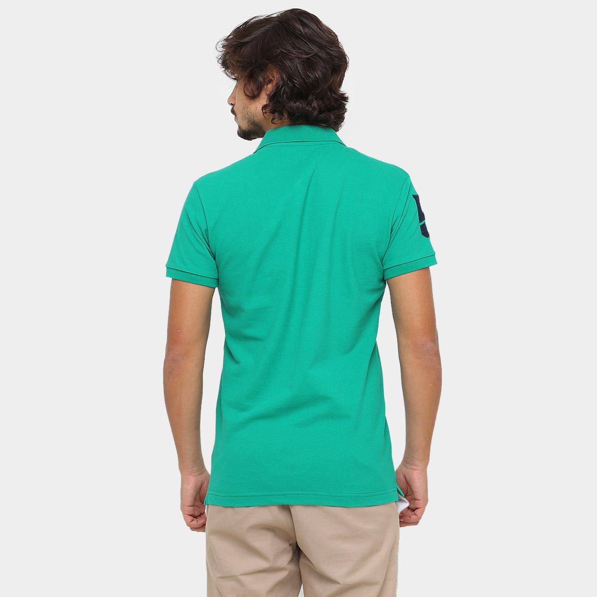 Camisa Polo RG 518 Piquet Básica Masculina - Verde água - Compre ... 95225ee2955a7