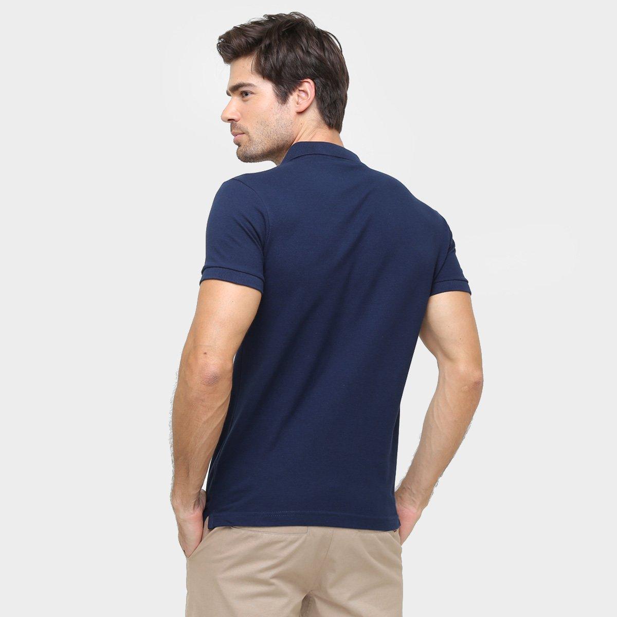 Camisa Polo Rg 518 Piquet Bordado Contraste Color - Marinho - Compre ... cde823e8629a8