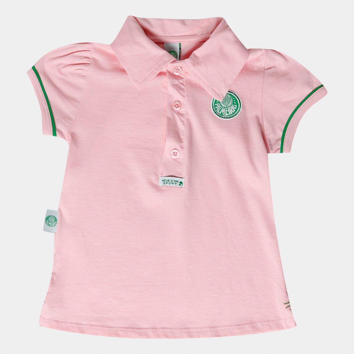 e5be505b896bc Camisa Polo Rosa Palmeiras Infantil - Verde e Branco - Compre Agora ...