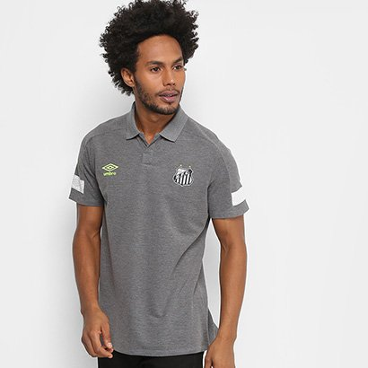 Camisa Polo Santos 2018 Viagem Umbro Masculina - Masculino