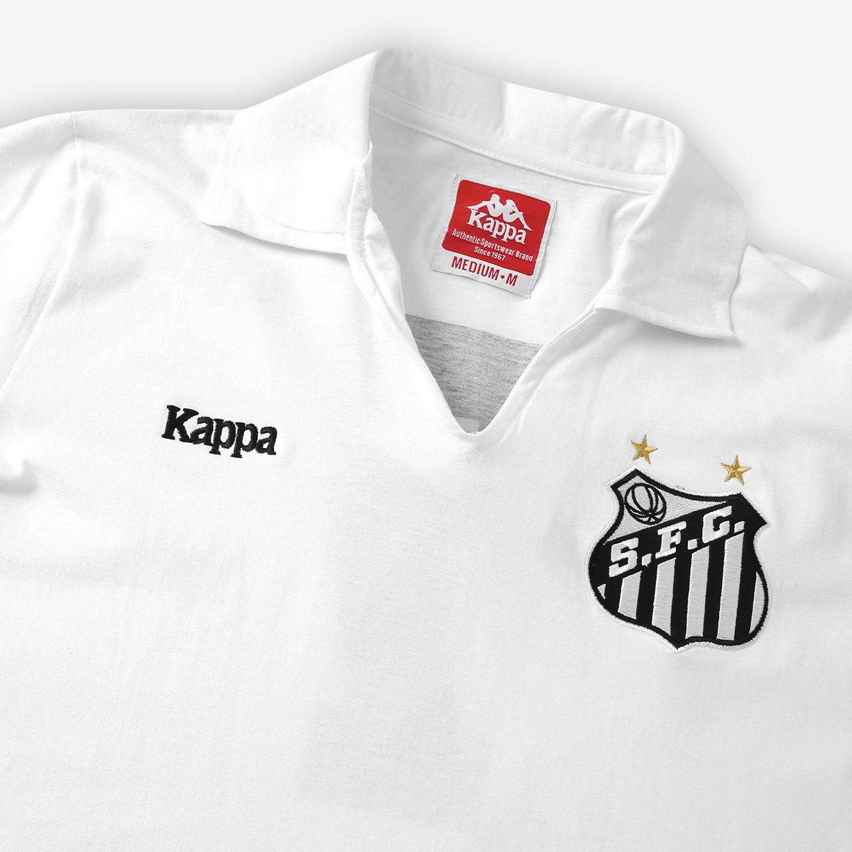 Camisa Polo Santos Authentic Réplica Masculina - Branco - Compre ... 6f5fcc6d4c5f3