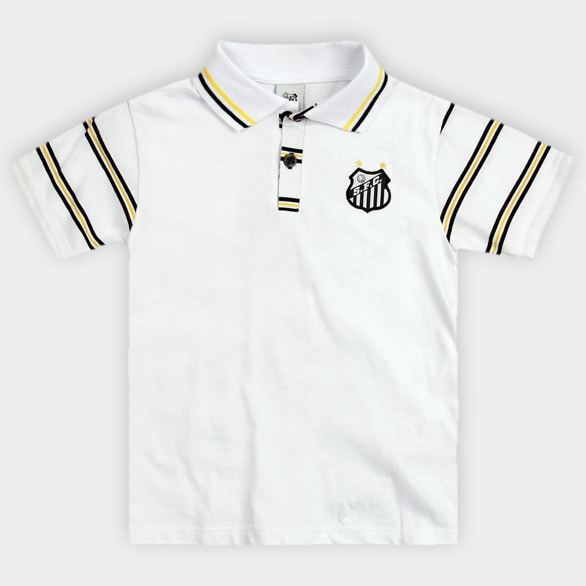 c69d5abe5fdac Camisa Polo Santos Infantil - Branco - Compre Agora